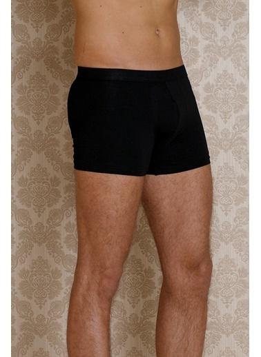 Hays Basic Erkek İçten Lastikli Penye Boxer Siyah